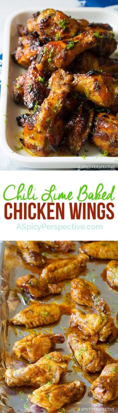 A Super Bowl Sensation! 7-Ingredient Chili Lime Baked Chicken Wings | ASpicyPerspective...