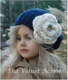 KNITTING PATTERN  Dahlia Slouchy Toddler Child por Thevelvetacorn,