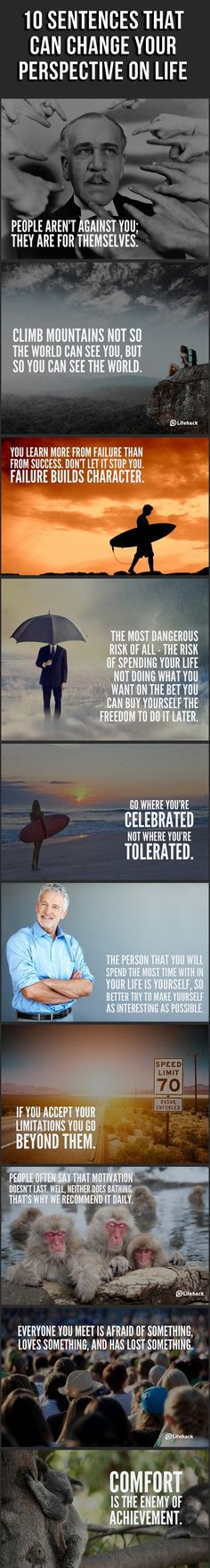 10 sentences that could change your perspective on LIFE <3