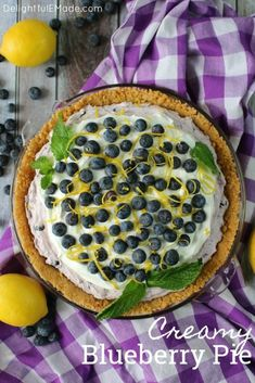 Creamy Blueberry Pie #EasterSweetsWeek