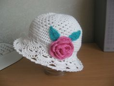 Little Girls Crochet Bag Patterns | Crochet summer hat for little girl, crochet pattern photo ...
