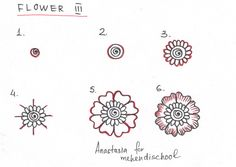 How to draw a beautiful and smooth mehndi flower. Small and easy tutorial. DIY.