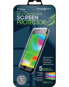 Chargeworx 1-Pack iPhone 6 Tempered Glass Screen Protector