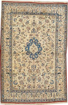 Nain rug  size approximately 3ft. 8in. x 5ft. 7in.