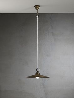 """Cantina""  by Il Fanale. Indoor suspension lamps, ceiling lamps and appliques with flat polished brass or antique iron"