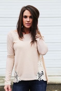 Side Show Crochet Tunic {Taupe}