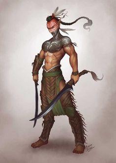 m High Elf Barbarian Swords Leather wilderness forest hills plains Fantasy Male, Fantasy Warrior, Fantasy Rpg, Fantasy Artwork, Elf Characters, Dungeons And Dragons Characters, Fantasy Characters, Fantasy Inspiration, Character Inspiration