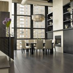 Gray Stained White Oak Floor Design Ideas, Pictures, Remodel and Decor