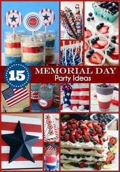 15 Memorial Day Party Ideas that are fun and fabulous! - Pretty My Party #memorialday #patriotic #party