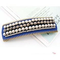 Vintage Pearl hairpin -Blue Blue- One Size
