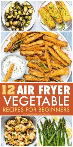 Tired of the same old boring and bland veggies? These Amazing Air Fryer Vegetable Recipes are exactly what you've been looking for! With the air fryer, all it takes is just a few minutes and a tiny bit of oil to serve up totally crave-worthy and crispy veggies that are tender in the middle and delightfully crunchy on the outside. They include easy recipes, fries and healthy #airfryer #airfryerrecipes #healthyairfryerrecipes #airfryervegetables #eatyourveggies #airfried #air-fryer #vegetables Air Fryer Recipes Vegetarian, Yummy Vegetable Recipes, Air Fryer Dinner Recipes, Air Fryer Recipes Easy, Lunch Recipes, Appetizer Recipes, Easy Recipes, Healthy Recipes, Appetizers