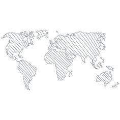Un Mundo de Trazos- Vinilo Decorativo Skylines & Lugares