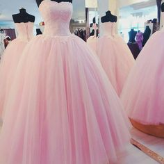 Cheap pageant ball gowns, Buy Quality ball gowns quinceanera dresses directly from China quinceanera prom dresses Suppliers: Vestidos De Noivas Para Casamento Custom New Dress Formal Prom Party Quinceanera Pageant Ball Gown Wedding Dresses 2017 Elegant Prom Dresses, Pink Prom Dresses, Sweet 16 Dresses, Quinceanera Dresses, Ball Gowns Evening, Ball Gowns Prom, Ball Dresses, Evening Dresses, Dresses 2016