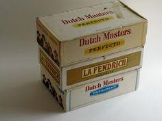 Vintage Cigar Boxes  Set of Three Dutch by HeartlandVintageShop, $14.99