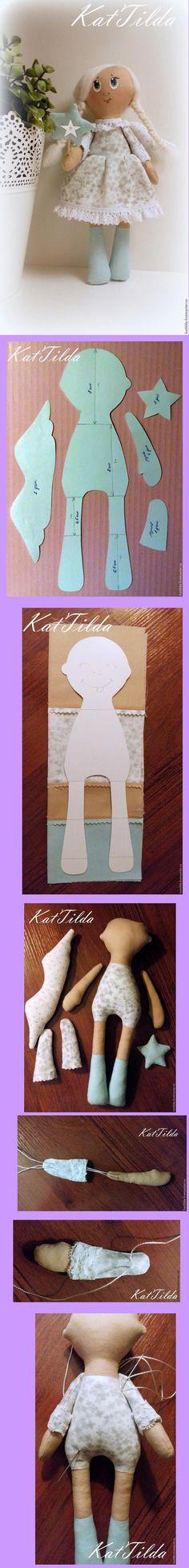BONECA DE PANO COM MOLDES free pattern: Angel Cloth Dolo