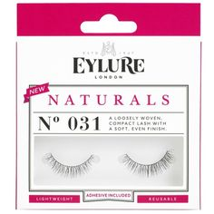 Eylure Naturals Lashes - No. 31 ($7.47) ❤ liked on Polyvore featuring beauty products, makeup, eye makeup, false eyelashes, black, eylure and eylure false eyelashes