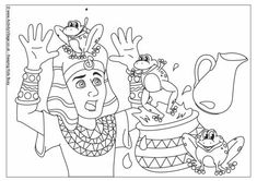 plague of frogs colouring page this bible colouring page shows pharaoh surprised by the plague of frogs which god sent to egypt just one of 12 plagues