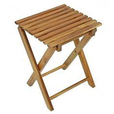 Superb Klapphocker TACOMA Eukalyptus ge lt Holz Beistelltisch Kl https
