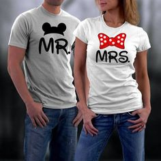 Disney Couples Shirts,Mr. And Mrs ...