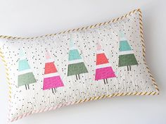 Tall Tall Trees cushion all finished ...