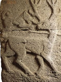 Hittite, relief shot deer, Sam-al Zincirli,850-800 BC, Museum of Oriental Antiquities, İstanbul