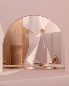Minimalist Architecture, Beautiful Architecture, Interior Architecture, Home Interior, Interior And Exterior, Interior Design, Aesthetic Space, Tadelakt, Modelos 3d