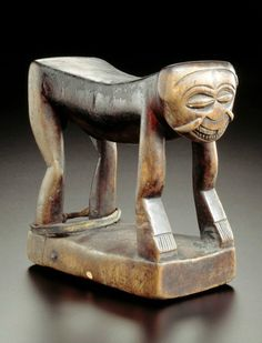 Africa | Headrest from the Yaka people of Kwango, Bandundu, DR Congo | Wood | ca. 1931