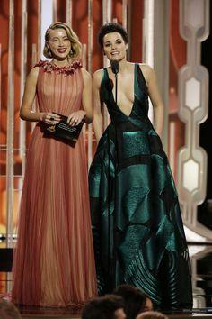 Amber Heard & Jaimie Alexander at the 73rd Annual Golden Globe Awards - Show (2016)