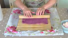 Lisa shows you how to make felt using wet felting techniques. - All designs/content copyright Lisa Marie Olson Tigerlily Makes - all rights reserved - All de...