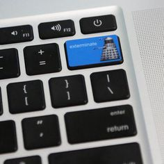 doctor who | dalek exterminate mac keyboard decal