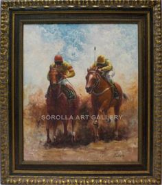 Escuela Holandesa : Riders. Medium: Oil on canvas Measurements (cm): 78x68 Canvas measurements (cm): 60x50 Interior frame: Yes. Marvellous scene of coach and horses.$504.97