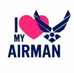 I love my Airman vinyl decal from on Military Deployment, Military Mom, Military Girlfriend, Boyfriend, Air Force Love, Us Air Force, Airforce Wife, Usmc, Marines