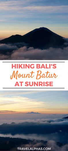 Looking for some Bali travel inspiration? Or something to fuel your wanderlust? When you travel to Bali, there are a few things you must do! One of them, is hiking up Mount Batur early in the morning, to watch the sun rise. In this post, we detail what it's like to climb one of Bali's volcanoes, to watch the sun rise. We also list some very important tips, to help you have the best experience possible! If you're thinking of hiking Bali's Mount Batur at sunrise, this post is for you.