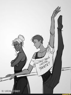 Lance and Allura in ballet lessons from Voltron Legendary Defender Voltron Klance, Voltron Comics, Voltron Memes, Voltron Fanart, Form Voltron, Voltron Ships, Mike Deodato, Spiderman, Batman