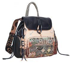 Damen Backpack Anekke Nature Editon bestickt Karabiner Glanz Nylons, Backpacker, Bucket Bag, Diaper Bag, Shoulder Bag, Handbags, Nature, Style, Outfits