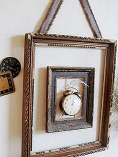 10 Creative Things To Do With A Picture Frame--like this idea!