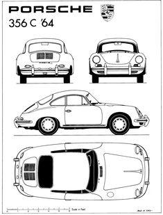 Porsche 356C (1964)   SMCars.Net - Car Blueprints Forum