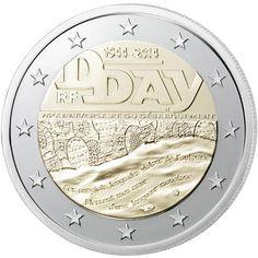 moneda conmemorativa 2 euros Francia 2014. Dia D.