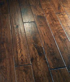Oak (Cotton Hall) Artisan Hand Scraped & Chiseled & Lightly Distressed Color: Dark Golden Brown Gloss Level: Elegant Satin Finish Edge Type: Hand Distresse...