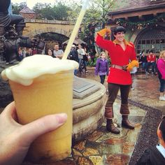 Le Fous Brew at New Fantasyland with Gaston in Background at Walt Disney World
