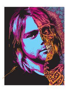 Kurt - by Ben Brown #grunge #Nirvana #art