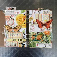 Creative Notebooks, Creative Journal, Elizabeth Craft Designs, Art Journal Techniques, Journal Design, Handmade Journals, Planner Pages, Journal Notebook, Filofax