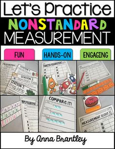 Looking for a hands-on, fun, and easy to prep resource to help you teach nonstandard measurement? This unit includes a variety of my favorite nonstandard measurement activities!