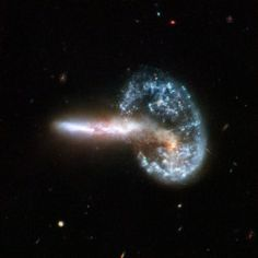 Arp 148 aftermath of two galaxies merging js