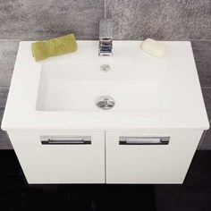 View the Wall Hung Basin Vanity Unit - White Double Door - Aspen Range. Compact Bathroom, Small Bathroom Storage, Bathroom Sets, Modern Bathroom, Basin Vanity Unit, Vanity Units, Bathroom Flooring, Bathroom Furniture, Used Woodworking Tools