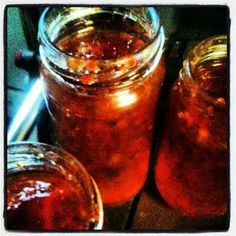 Chilli Jam, tasty, sweet and great base for chicken wings.