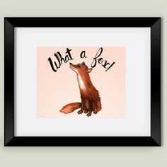 What a Fox Framed Art Print by strangecharm on BoomBoomPrints