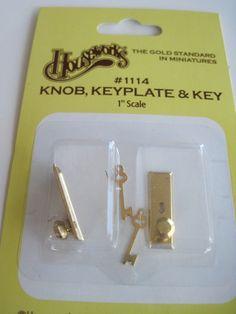 Doorknob and key for Tooth Fairy Door www.drrathke.com #davidrathkedds