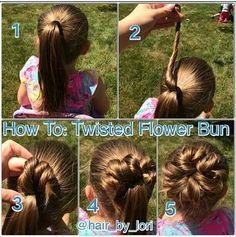 This hairstyle is great for little girls or even an easy wedding hairstyle for a