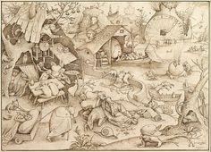 The Sin of SLOTH Pieter Bruegel the Elder Circa 1557